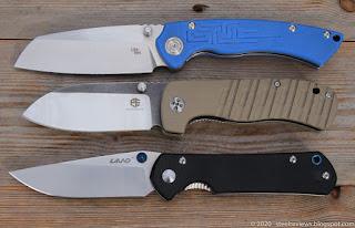 CH Knife Toucans, Petrified Fish PF714 and Sanrenmu Land 910 plus