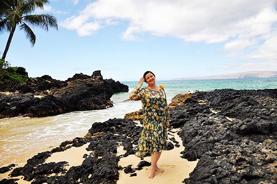 Maui beach 1920s dress