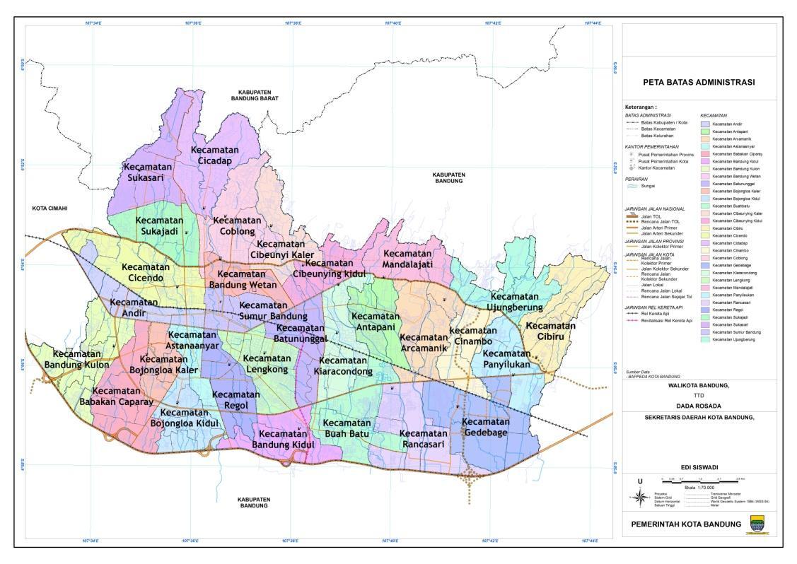 KotaKita.com: Kota Bandung Meliputi 30 Kecamatan