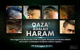 style rambut yang haram, style qaza, qoza, apa itu qoza, apa itu qaza, kenapa style qaza haram?