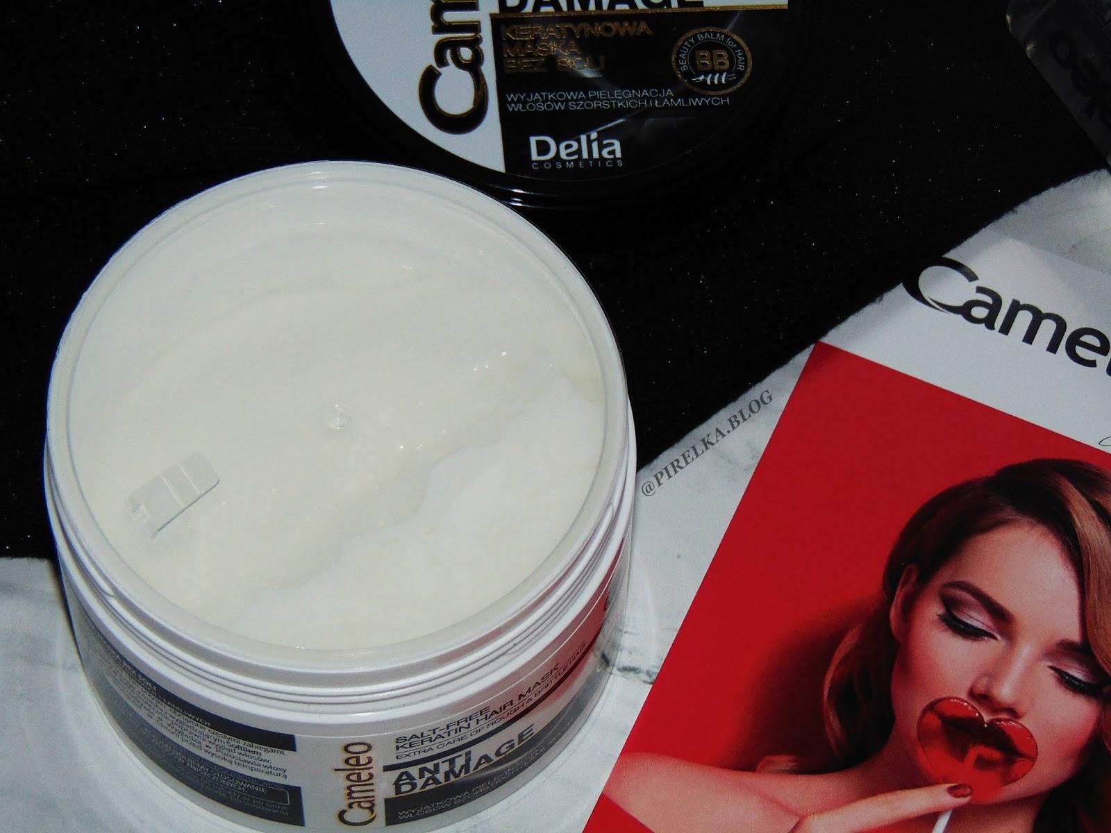 Keratynowa maska do włosów zniszczonych, Delia Cameleo BB