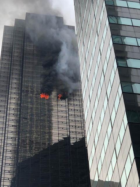 Incêndio atinge a Trump Tour, em Nova York