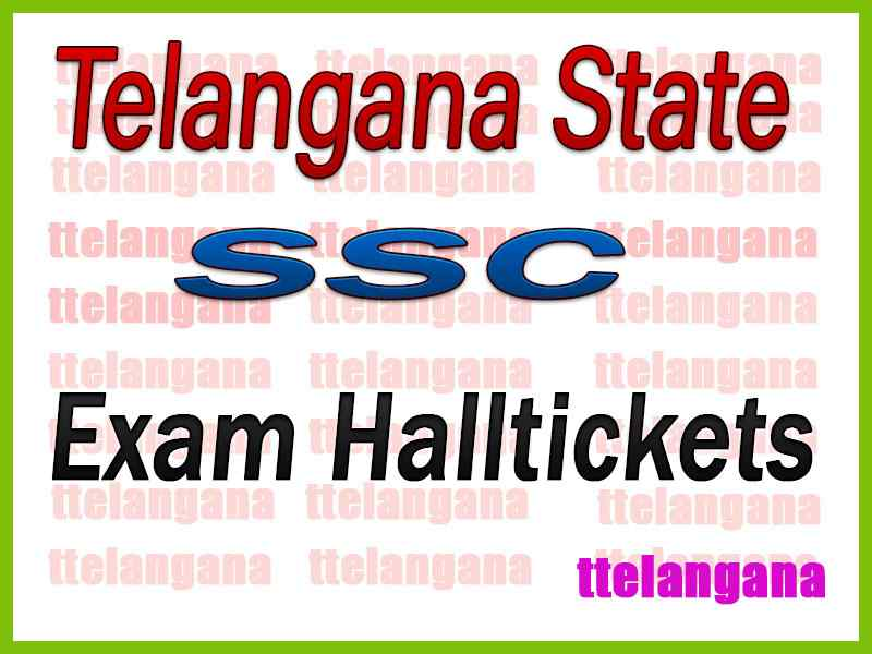 TS SSC 10th Class Hall tickets Download