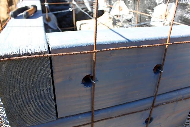 Gabion basket side view