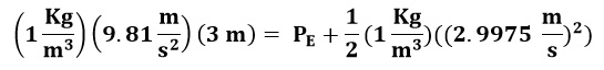 Sustituyendo valores en la ecuación de Bernoulli entre los puntos A y E del ejemplo 2