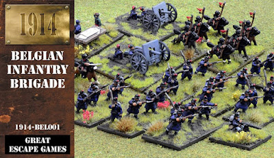 12mm 1914 Belgian Infantry Brigade from Great Escape Games