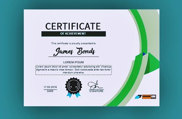 Desain sertifikat kosong
