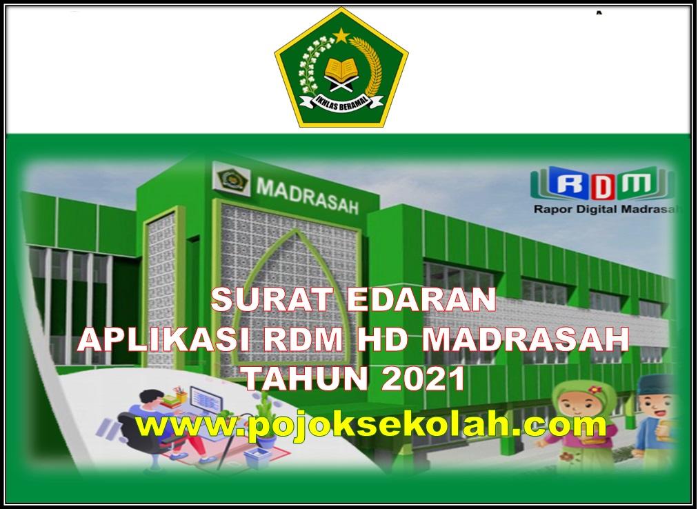Surat Edaran Aplikasi RDM HD Madrasah