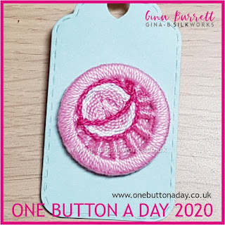 Day 191 : Planet Pink - One Button a Day 2020 by Gina Barrett