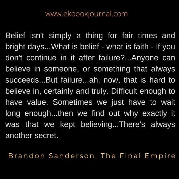 Brandon Sanderson | Quotes | The Final Empire