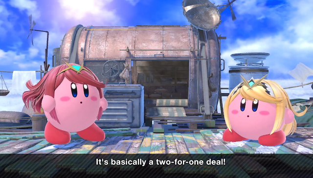 Super Smash Bros. Ultimate official Kirby hats Pyra Mythra