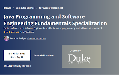 Java Programming and Software Engineering Fundamentals Specialization by Duke Univesity Review