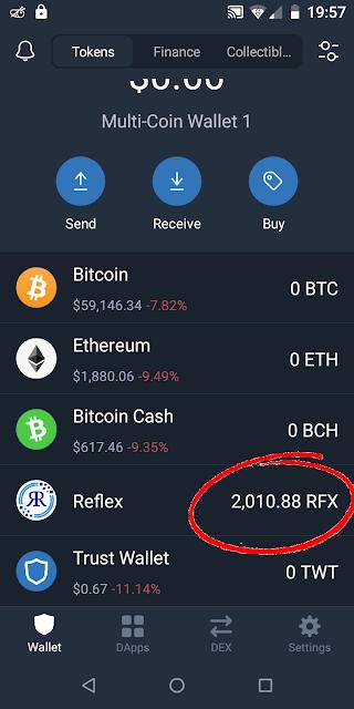 Reflex Cloud Mining App Proof Of Payment