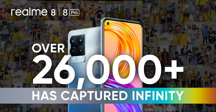 realme 8 series' tallies record-breaking first-day sales in PH