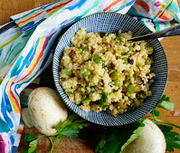 Couscous salad with garbanzo beans
