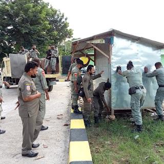 Perintah Walikota, Rombong di Lapangan Pahlawan Ditertibkan