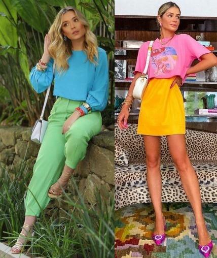 6 combinações de looks para usar em 2021, color block Maria Braz, Thássia Naves