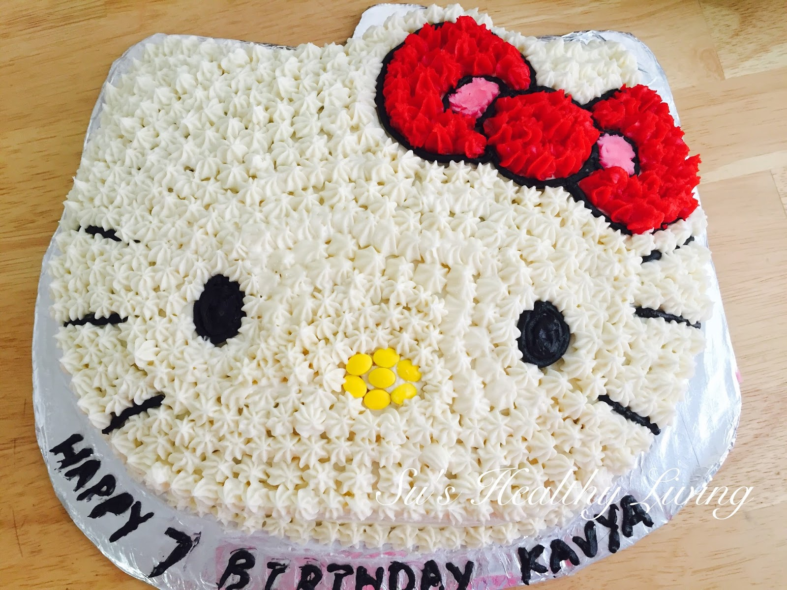 How To Make Simple Hello Kitty Cake