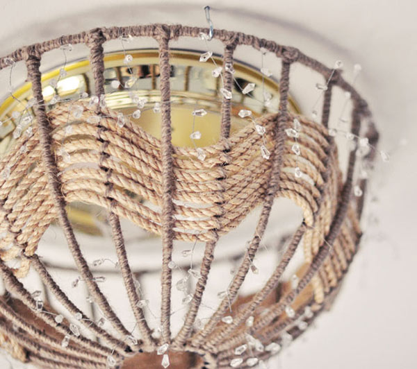 DIY Rope Pendant Lamp