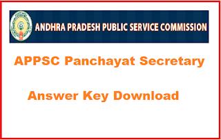 APPSC Panchayat Secretary Answer Key 2019 Download