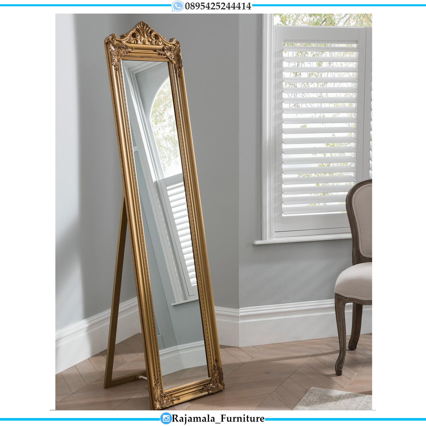 Stand Mirror Luxury Classic, Kaca Rias Mewah Ukiran Klasik Jepara RM-0119