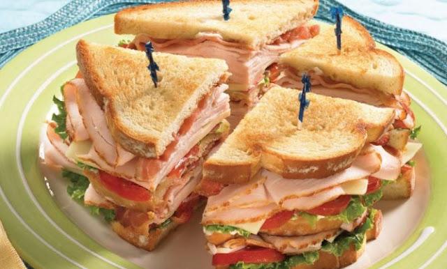 Club Sandwich (Turkey, Ham, Bacon) #dinner #lunch