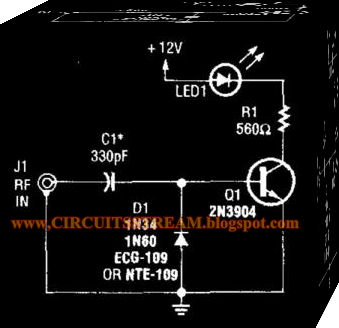 Simple Rf Output Indicator Circuit Diagram