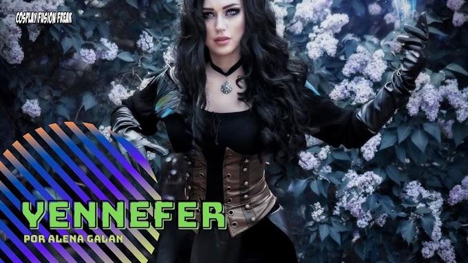 Alena Galan con su cosplay de Yennefer