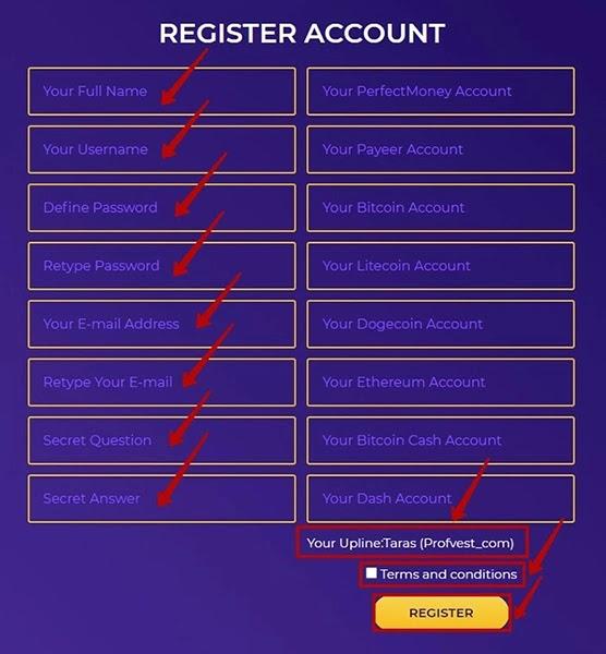 Регистрация в MinerPower 2