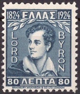 Greece 1924 Lord Byron 80 Lepta