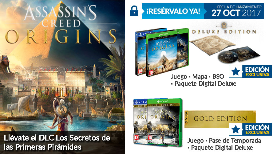 GAME presenta sus ediciones exclusivas de Assassin's Creed Origins