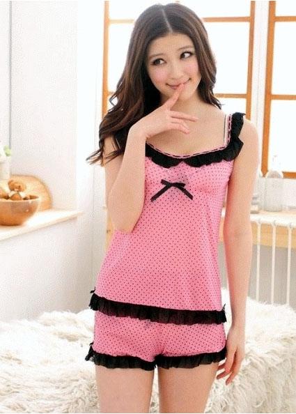 Jual Baju Tidur Hotpants Pink BBBT016