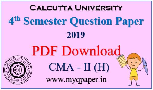 Download Calcutta University Cost and Management Accounting- II Honours Question Paper 2019