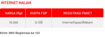 Paket Internet Smartfren Malam