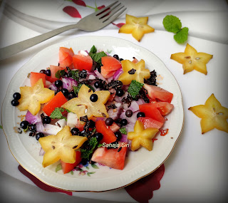 Star fruit & vegetables salad