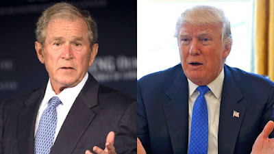 George W. Bush criticó los ataques de Donald Trump contra la prensa