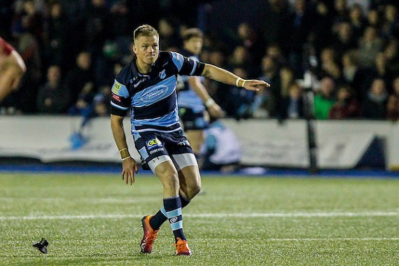 Gareth Anscombe of the Cardiff Blues