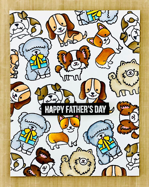 Sunny Studio Stamps: Party Pups Customer Card by G Designs 19