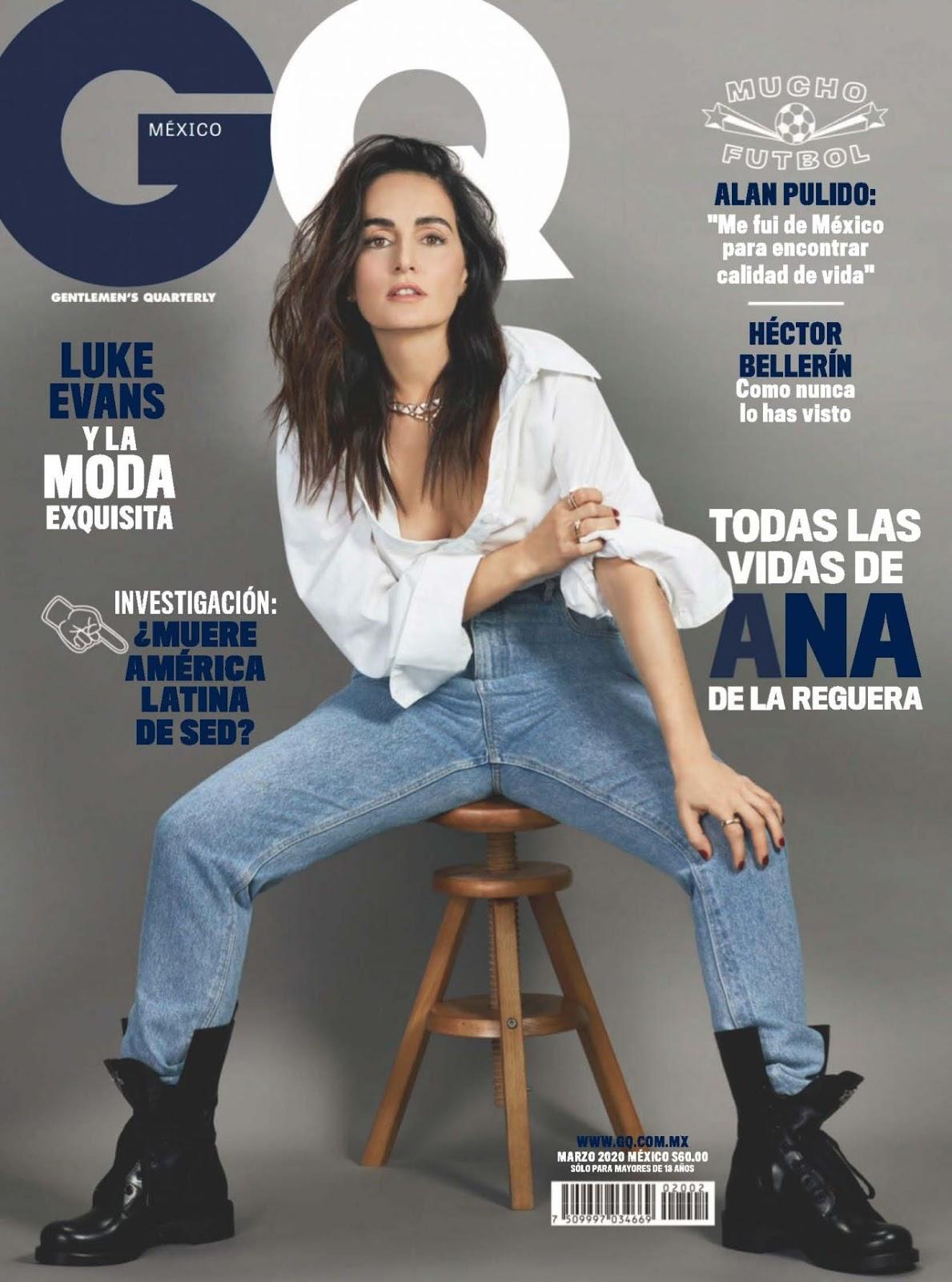 Ana de la Reguera poses for GQ Mexico March 2020