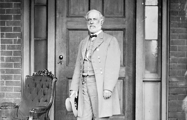 Confederate General Robert E. Lee poses in a late April 1865 portrait taken by Mathew Brady in Richmond, Virginia. By the end of the war, Lee had been appointed as general-in-chief of all Confederate forces, having led numerous armies into battle against Union forces during the conflict. It was Lee's surrender to General Ulysses Grant at Appomattox Court House on April 9, 1865 that signaled the end of the war