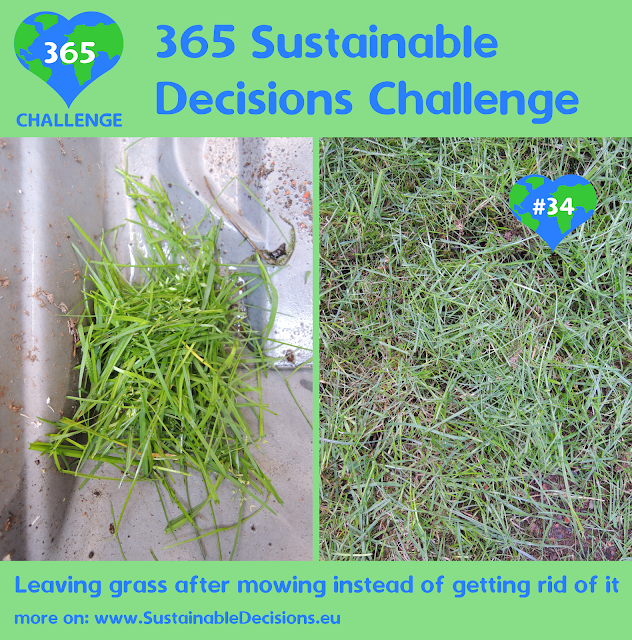 Leaving grass after mowing instead of getting rid of it reducing waste