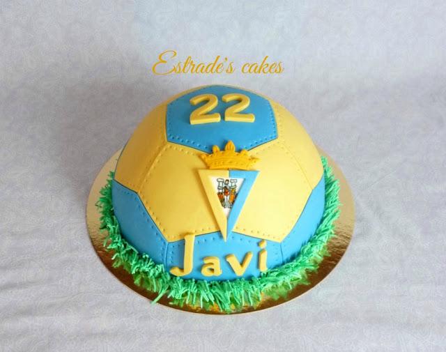 Tarta balón del Cádiz CF 1