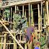 TNI dan Masyarakat di Lumajang Karya Bakti Renovasi Tempat Ibadah