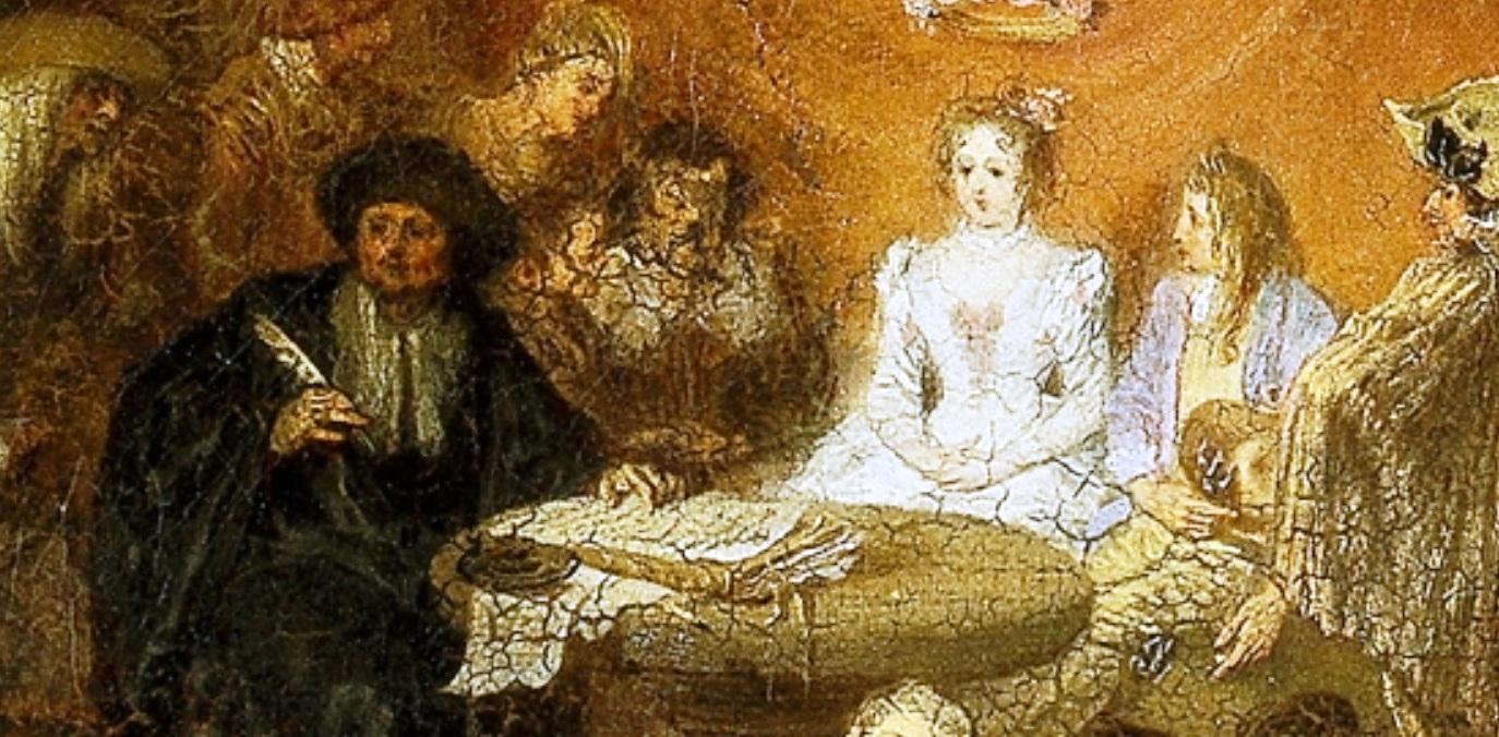 Capitulaciones de boda y baile campestre, de Jean Antoine Wateau (Museo del Prado)