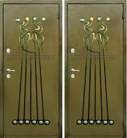 """Дверь с ковкой """"Каскад"""""""