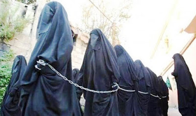 Islamic women in chains