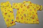 Jual Baju Piyama Anak Bahan Katun Umur 3 Tahun Winie The Pooh Kuning