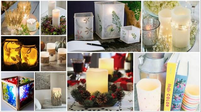 Τρόποι για να χρησιμοποιήσετε καλαίσθητα τα Κεριά Led στην διακόσμηση του σπιτιού