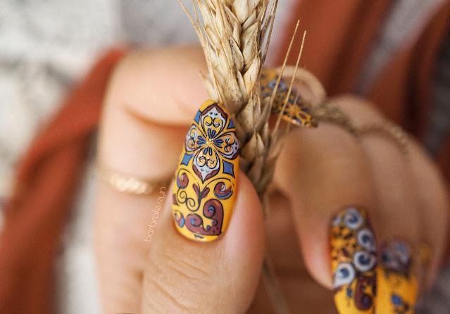 jesienne paznokcie etno