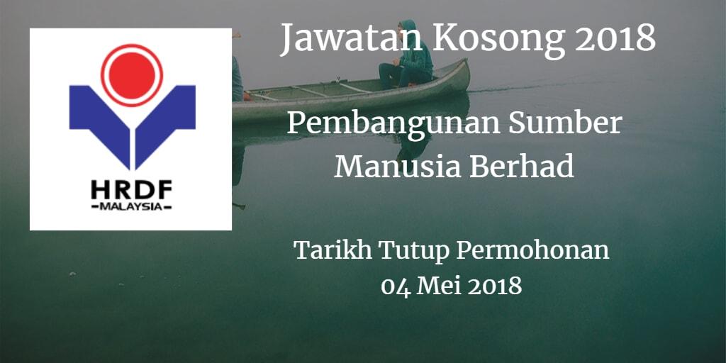 Jawatan Kosong Pembangunan Sumber Manusia Berhad 04 Mei 2018